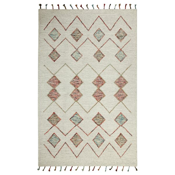 Dundridge Hand-Tufted 100% Wool Ivory Area Rug by Bungalow Rose